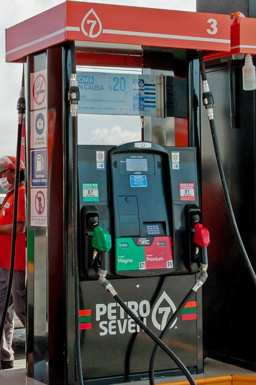 Dispensario de Gasolina con Imagen Petroseven